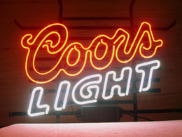 Wholesale Coors Neon Signs - NEW COORS LIGHT MOUNTAINS BEER REAL GLASS NEON LIGHT BAR PUB SIGN