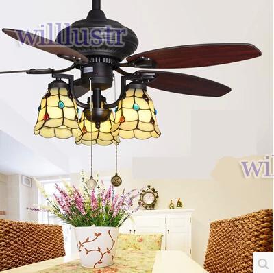 2018 42 Inch American Rural Countryside Fan Light Beige Ceiling Fan Light  European Antique Vintage Chandelier Lamp Living Room Dining Fan From  Willlustr, ...
