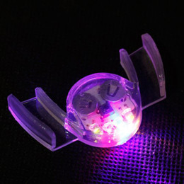 Wholesale led flashing mouth lights - Wholesale-OP-4 Color Party Glow Tooth Toys LED Light Flashing Flash Mouth Guard Piece Funny Free Shipping Dropshipping
