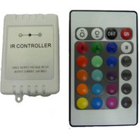 Wholesale 24 key ir controller - 12V 24 Keys IR Remote Controller for RGB SMD 3528 5050 LED Strip Light String Lights  6A for 5 Meters CXW1002