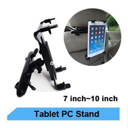 Ipad fahrzeughalter online-Universalauto-Fahrzeugsitz-Rückseiten-Kopflehnen-drehbarer Einfassungs-Halter für IPAD / alle Tablette stehen PC / GPS / TV / DVD freies Verschiffen