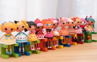 Wholesale Wholesale Lalaloopsy Mini Dolls - Wholesale-OP-2014 New 8pcs lot mini Lalaloopsy dolls 8 CM, girls baby kid favorite birthday gift, play house toys, child brinquedos