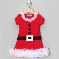 Wholesale Petal Dress Child - 2014 New children girls Christmas style short sleeves dress Clothes TUTU A001