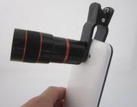 Wholesale Optical Zoom Ipad - Universal 8X Zoom Mobile Phone Telescope Optical Lens with Clip for Samsung iPhone iPad Nokia HTC Newest