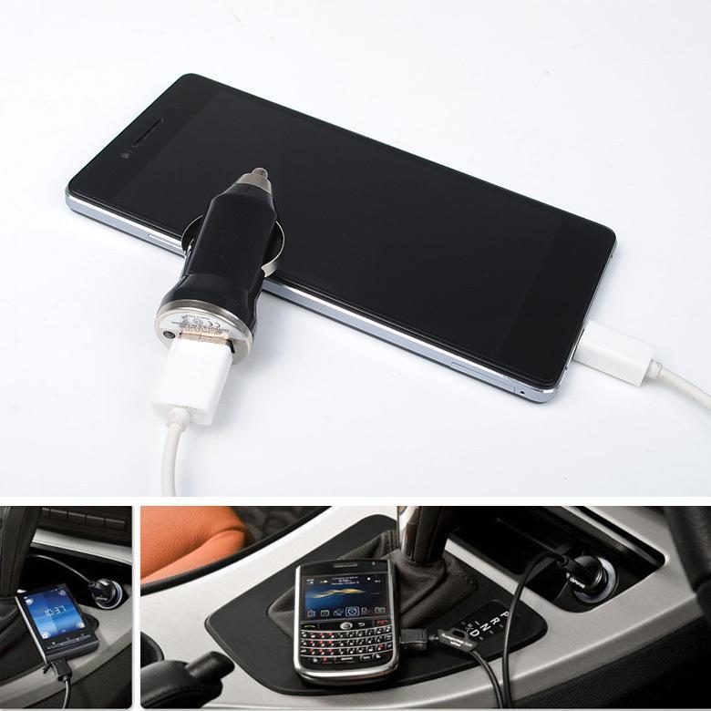 ملون ميني USB شاحن سيارة 5V / 1A المحمولة شاحن محول المقبس لفون سامسونج هواوي موتو