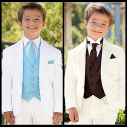 Wholesale Kids Wool Clothes - Notch Lapel Kid Tuxedos Suits Boy's Special Occasion Clothes