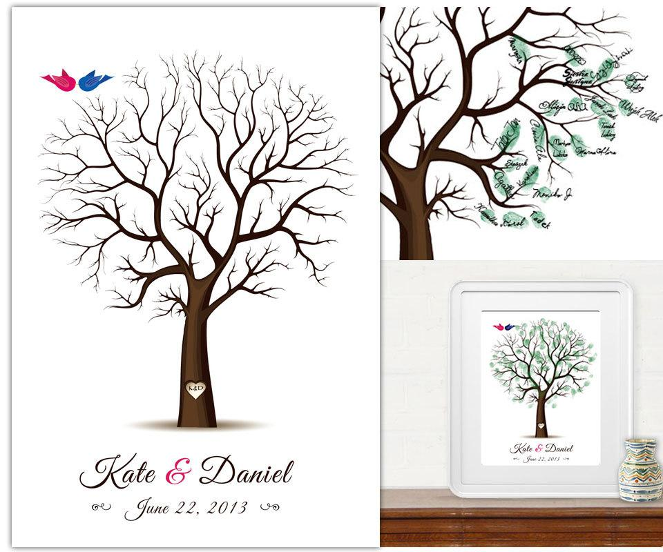 2017 personalised weddiing tree fingerprint guest book wedding gifts for wedding ceremony from wewedding 2253 dhgatecom