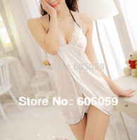 Wholesale Girl Sex Skirt - Sexy lingerie babydolls women nightdress open front dress for sex girls short skirt G string white kinomo erotic new ul038