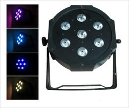 active sound control 2019 - 7pcs*10W Par Light 4IN1 RGBW LED Stage Light Par DJ Light RGBW LED Light 8 Channel DMX 512 Control LED Projector Party D