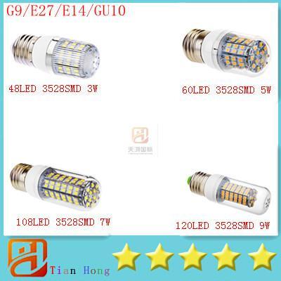 30x New Corn Light G9/E27/E14/GU10 Led Corn Lamp 3528SMD 48LED(3W) 60LED(5W) 108LED(7W) 120LED(7W) Led Light 110V-240V