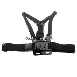 Wholesale Gopro Belt - Promotion Gopro Accessories Adjustable Elastic Chest Strap Body Belt Mount+Three-way Base+Screw+Bag for Gopro HD Camera Gopro Hero 3+ 3 2 1