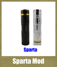 Discount tube mod e cig Sparta Mechanical Mod Stainless Steel and Black E Cig Sparta 26650 Mod Electronic Cigarette Sparta Mod With 26650 Mod Tu
