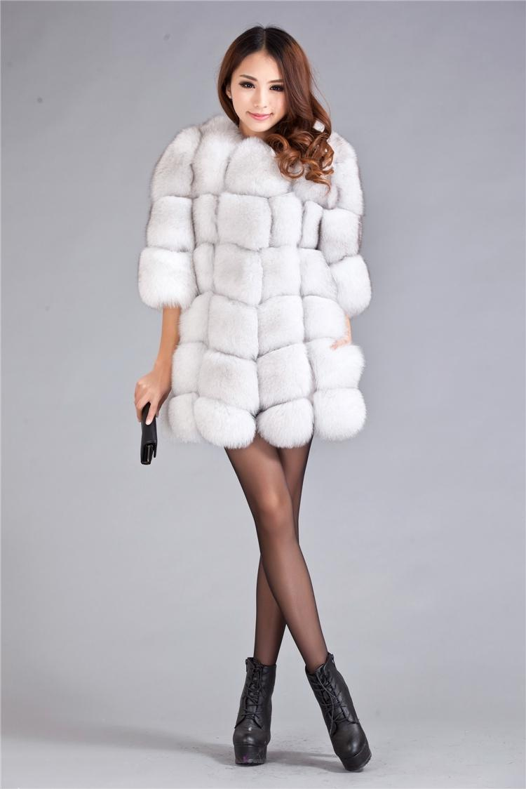 2018 2014 Spring New Genuine Real Fur Off White Fox Fur Vest ...