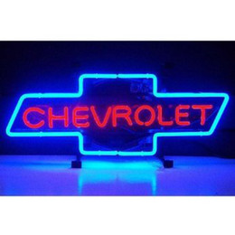 "Wholesale Chevrolet Neon Signs - New Chevrolet Bowtie Glass Neon Sign Light Beer Night Bar Disco Residential Commercial restaurant 19""X15"""