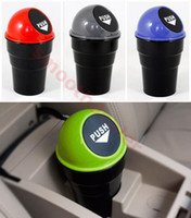 Wholesale Mini Trash Cans - Hot Sale 1PC Mini Office Home Auto Vehicle Car Trash Rubbish Bin Can Garbage Dust Case Holder