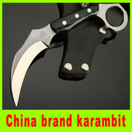 Wholesale China Hunting Gear - China brand claw karambit knife 7Cr17 blade EDC Pocket Knife camping Utility outdoor gear knife best christmas gift 202L