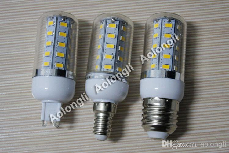 11W with cover LED Corn Light Bulb 36 leds SMD 5730 Dimmable LED Lamp E27 E14 G9 Warm White/White 110V 220V corn bulb energy saving lighting