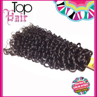 Wholesale Brazilian Tight Curly Hair Extensions - Kinky Curly Hair Weaves 3 Bundles 8-28inch Deep Wave Curly Brazilian Hair Extensions Tight Double Machine Weft Wholsale Price 6A Quality