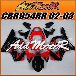 Wholesale Honda Cbr 954 Rr - Addmotor Injection Mold Fairing For Honda CBR954RR CBR 954 RR 2002 2003 02 03 Red Black H9526+5 Free Gifts