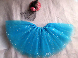 Red White Blue Tutus UK - New arrived tutu pettiskirt dance skirt blue tutu for girls glittle pettiskirt baby girls tulle tutu skirt