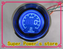 "NEW 2"" (52mm) EVO LCD Digital Oil pressure gauge Psi reaing  Auto gauge Auto meter tachometer Car Meter Color:Red and Blue"
