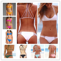 Wholesale Sexiest Women Bikinis - 2014 New Arrived Sexy Bandage Bikini Women Bikinis set Brand Vintage Swimwear Sexiest Swimsuit Bathing Suit Push Up Bikini 2612
