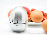 Wholesale Mechanical Stainless Steel Egg Timer - Free Shipping! 1pc Silver Stainless Steel Egg Timer Kitchen Cooking Tools Mechanical Dial Timer Wholesale & Retail original hight quality