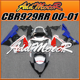 Wholesale Honda Cbr929rr Fairing Red Injection - Addmotor Injection Mold Fairing For Honda CBR929RR CBR 929 RR 2000 2001 00 01 Red Blue White H9023 +5 Free Gifts