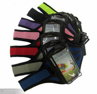 Wholesale Mesh Galaxy S4 Case - Mesh Sport Gym Running Armband Soft Pouch Case Cover For iphone 4 4s 5 5G 5C 5S iphone 6 4.7INCH Galaxy 3 4 5 S3 S4 S5 Note 2 300pcs lot