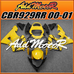 Wholesale Honda Cbr Gifts - Addmotor Injection Mold Fairing For Honda CBR929RR CBR 929 RR 2000 2001 00 01 Yelow Black H9037 +5 Free Gifts