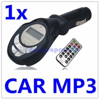 Wholesale Slot Car Sales - 10X hot sale Car MP3 Player Foldable FM Transmitter for USB SD MMC Slot Free Shipping