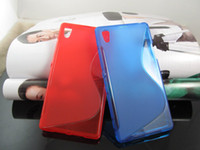 Wholesale Wholesale Xperia S Cases - S line Wave Soft Clear Transparent skin Grip TPU Gel silicone cover case cases for Sony Xperia M2 Z2A Z1 Compact Z2 Z3 Z3 MINI 10PCS 20PCS