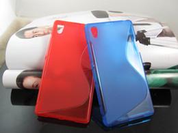 Wholesale Ericsson Xperia S - S line Wave Soft Clear Transparent skin Grip TPU Gel silicone cover case cases for Sony Xperia M2 Z2A Z1 Compact Z2 Z3 Z3 MINI 10PCS 20PCS