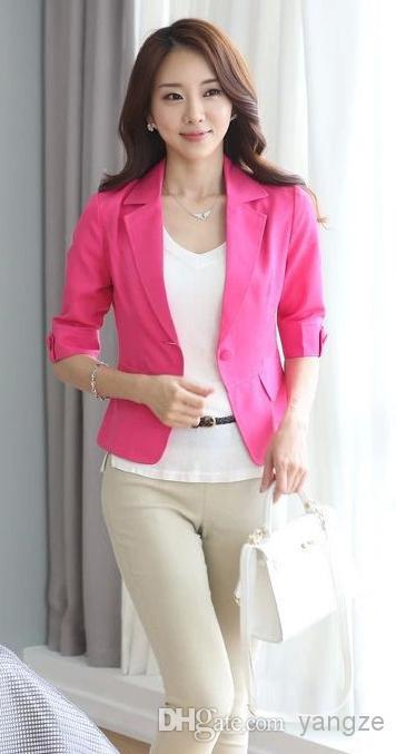 Hot Pink Blazers For Women Long Sleeves Ol Suits Celebrity Candy ...