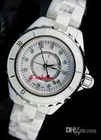 relógios suíços venda por atacado-Mulheres de luxo relógios senhora suíça calssic 12 Branco de cerâmica de quartzo relógio de quartzo movimento designer de moda das mulheres modernas relógios de pulso de vestir
