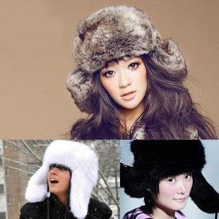 New Fashion Faux Fur Bomber Hats Winter Wind Proof Russian Ear ... cbb94c5f8088