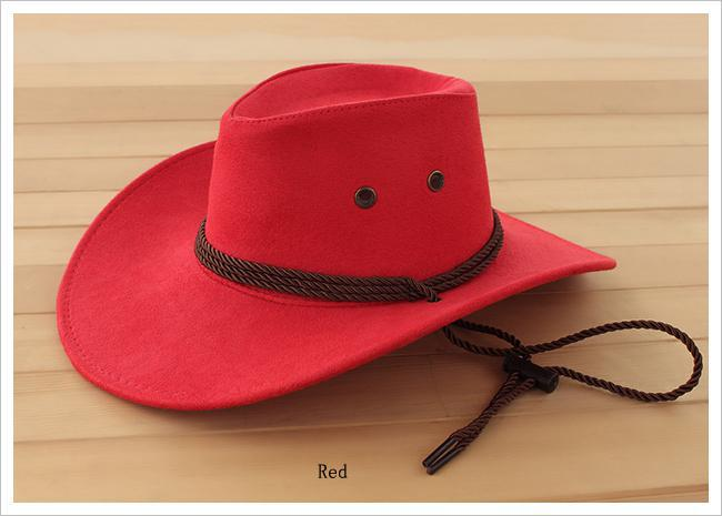 b0fa9ea3b5a Fashion Fuax Leather Western Cowboy Hats
