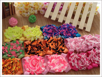 Wholesale Shabby Chiffon Ruffles Hair Accessories - 16pairs shabby chiffon lace ruffles barefoot flower baby shoes toddler sandal infant sock shoes hair accessories