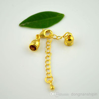 Wholesale Jewelry Findings Copper End Cap - DIY 100Sets Gold Plated Chain Extender And Ends Cap With Lobster Clasp Buckle Jewelry Finding