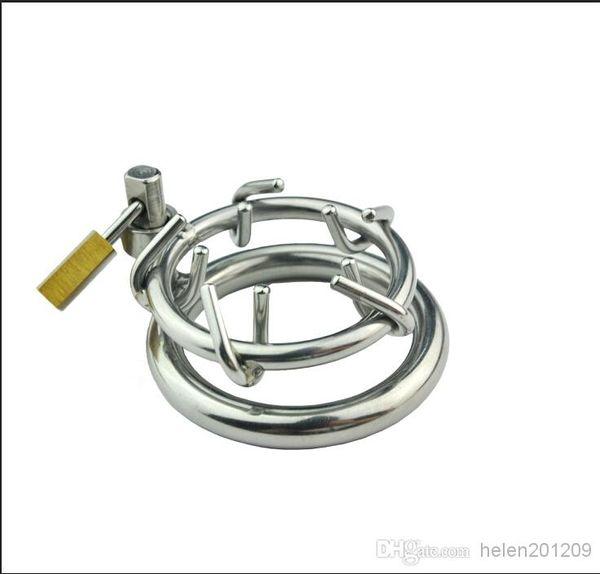 El último diseño de acero inoxidable Bondage anillo de castidad masculina Gimp Fetish CALIENTE Gay juguete sexual Corona de espinas dispositivo de castidad 157