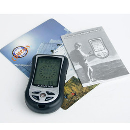 Wholesale Weather Barometers - OP-Handheld electronic compass barometer multifunctional altmeter baroscope altitude meter thermometer weather forecast