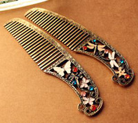 Wholesale Dragonfly Comb - OP-B17 Fashion accessories dressing vintage retro butterfly finishing dragonfly comb hair accessory 2 1 bride accessories hair