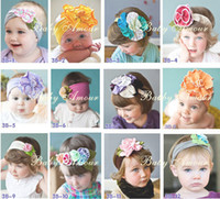 Wholesale Childrens Flower Tops - Wholesale - TOP BABY Girls Hair Ornaments Baby Flower Headbands Childrens Hair Accessories 60 Designs