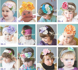 Al por mayor - BEBÉ SUPERIOR Niñas Adornos para el pelo Baby Flower Headbands Childrens Hair Accessories 60 diseños