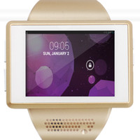 Wholesale Watch Phone Wifi Dual - Dual Core Android 4.1 Smart Cell Phone Watch Wearable GPS WiFi Bluetooth Free Shipping