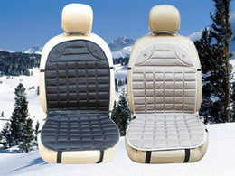 Wholesale Car Seat Covers Black Red - 12V Universal Heated Car Seat Cushion Cover Seat Heater Warmer Heater temperature winter household cushion Color: black, gray