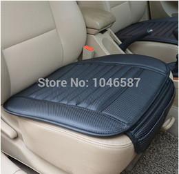 Wholesale Leather Car Seat Cushion Covers - car supplies Car seat covers, spring summer premium car seat cushion, bamboo charcoal leather monolithic seat cushion