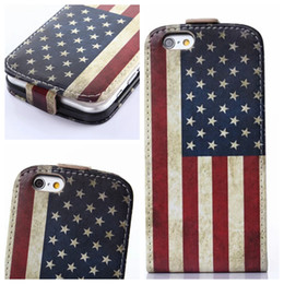 Wholesale Iphone Flags - Flower Verticle Flip Leather Case For iphone 6 Air 6G 4.7' Owl USA UK Flag Credit Card Slots free shipping