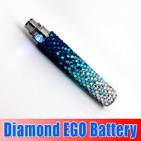 Wholesale Ego New Diamond Batteries - NEW Arrival diamond ego battery Bling Colorful e Cigarette battery Electronic Cigarette diamond battery with high quality waitingyou