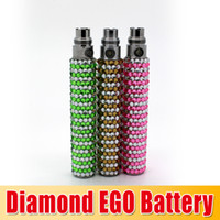 Wholesale Electronic Cigarette Gift Diamond - Christmas Gift Bling diamond ego battery Colorful e Cigarette battery Electronic Cigarette diamond battery with high quality waitingyou